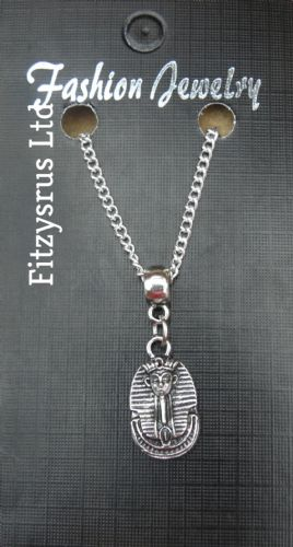"18"" 24"" Inch Chain Necklace & Pharaoh Pendant Charm Egypt Egyptian Gift Souvenir"